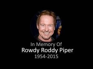 "WWE ""Rowdy"" Roddy Piper Tribute (1954-2015)"