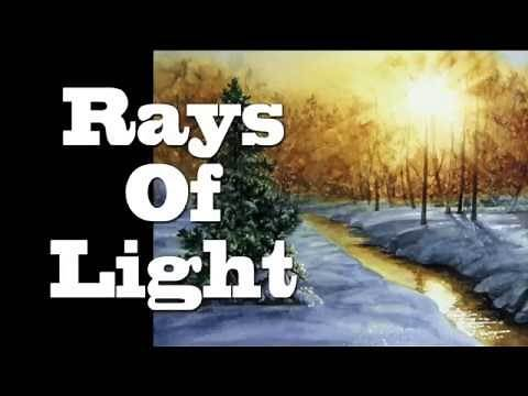 Watercolor Tutorial - How to Lift Rays Of Light from Watercolor Painting