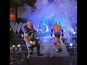 Bam Bam Bigelow WCW debut (with Goldberg) - Nitro 16/11/1998