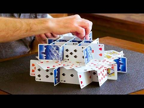 How to Stack Playing Cards   WIRED