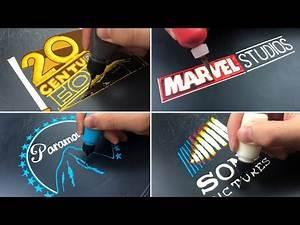 Movie Studio Logo Pancake Art - 20th Century Fox, Marvel Studios, Paramount Pictures, Sony Pictures