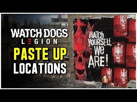Watch Dogs Legion - All Paste Up Locations (Piece de Resistance Trophy / Achievement)