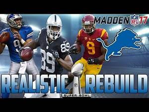 Madden 17 Connected Franchise | Realistic Rebuild: Detroit Lions | MVP Stafford?