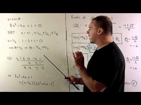 Trig Values for Multiples of pi/5
