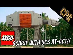 Rogue One in LEGO: Battle of Scarif (with UCS AT-ACT)