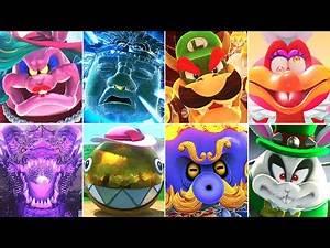 Super Luigi Odyssey - All Bosses (No Damage)