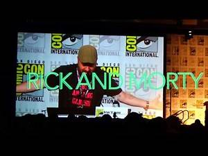 RICK AND MORTY Introductions At The San Diego Comic Con