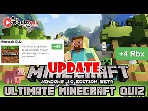 [Update] Ultimate Minecraft Quiz Answers   4 Robux   Quiz Diva   Quizdiva.net