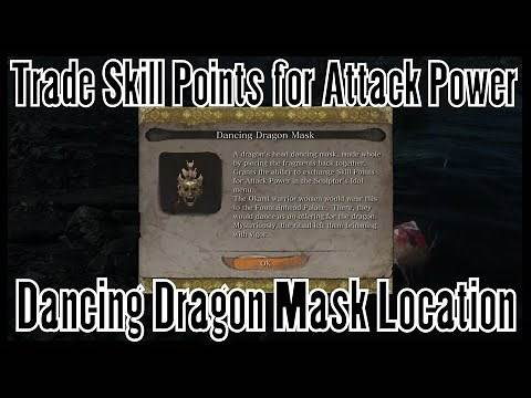 Sekiro How To Get The Dancing Dragon Mask (Trade Skill Points for Attack Power)