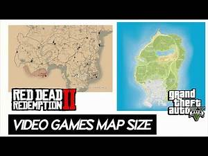 Video Game Maps SIZE comparison 2019 | Including 20 Games (Red dead 2 , Fallout 76 & more)