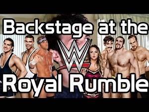 Backstage at the WWE Royal Rumble