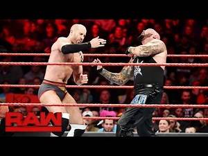 Cesaro vs. Luke Gallows: Raw, Jan. 23, 2017
