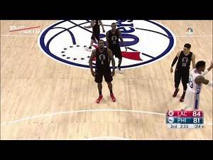 DeAndre Jordan Airballs Two Free Throws Clippers vs Sixers January 24 2017