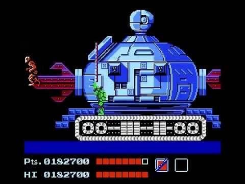 Teenage Mutant Ninja Turtles 1 NES - Technodrome (Fifth Boss Fight) Shredder's Base Level 5