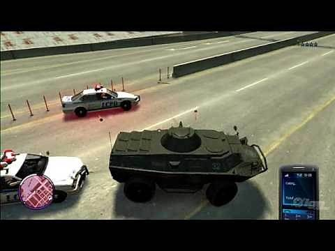 Grand Theft Auto IV The Ballad of Gay Tony Xbox 360 Gameplay-Stealing A Tank