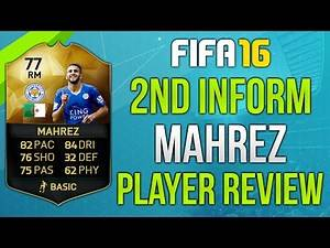 FIFA 16 SIF Mahrez Review (77) Fifa 16 Ultimate Team Player Review!