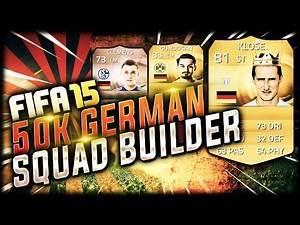 FIFA 15 GERMAN / BUNDESLIGA SQUAD BUILDER ft KLOSE GUNDOGAN & CLEMENS   FUT