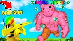 I had a 1 MILLION ROBUX BATTLE vs the MEGA PIGGY.. (Roblox)