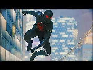 PS4 Spider-man DARK Suit Showcase (Black Cat Suit)