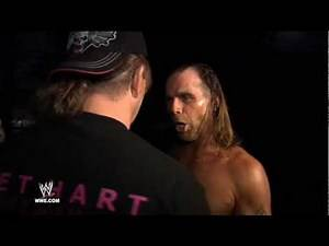 Shawn Michaels makes his final walk through the backstage area