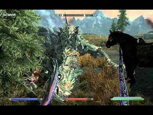 Skyrim awesome Dragon Kill with Daggers. 360/PS3/PC