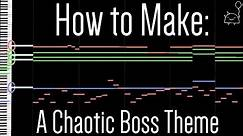 How To: Make a Chaotic Boss Battle Theme in 5 Minutes ( Full Song at the End) || Shady Cicada