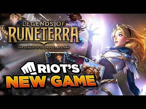 FIRST EVER GAMEPLAY FOOTAGE OF RIOT'S NEW GAME: LEGENDS OF RUNETERRA