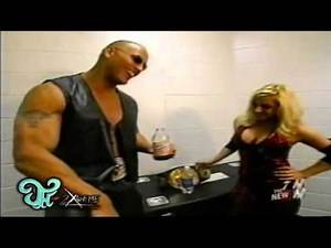 Jeff Hardy,Rock and Trish Backstage WWE RAW 04-07-2003.m2t