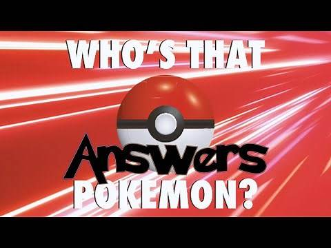 'Who's That Pokemon? V3' Quiz Diva Answers | Are You the Best There Ever Was?