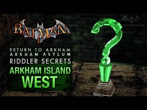 Batman: Return to Arkham Asylum - Riddler's Challenge - Arkham Island West (All Collectibles)