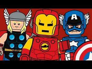 Custom Lego Marvel Comics Minifigures