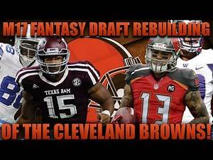 Madden 17 Fantasy Draft Franchise | Rebuilding the Cleveland Browns! Best 2017 Rookie Team!