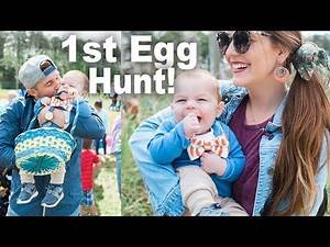 Baby's Adorable First Easter Egg Hunt!