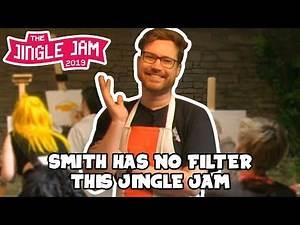 Hat Films & Bouphe Painting Stream but only the funny bits - Jingle Jam 2019