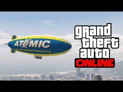 GTA 5 Online - How To Get The Atomic Blimp Online! - Fly The Blimp Air Ship in Free Roam Online!
