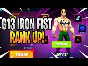 IRON FIST G13 RANK UP & GAMEPLAY! - MARVEL Strike Force - MSF