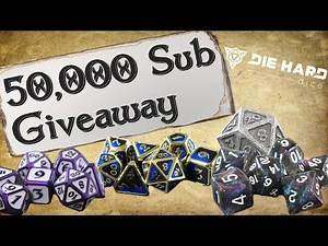 50,000 Subscriber Special | Die Hard Dice Giveaway!