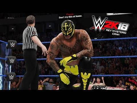 WWE 2K18 - REY MYSTERIO Entrance & Finisher! (CAW) [PS4]