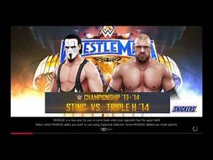 WWE 2K19 Sting VS Triple H '14 1 VS 1 Hell In A Cell Match WWE Title '14
