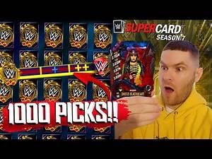 1000 PICKS IN THE HIGHEST TIER!! WWE SUPERCARD SEASON 7