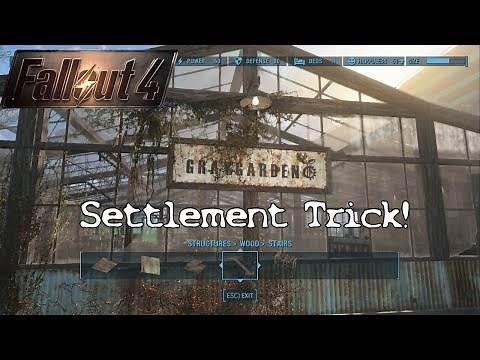 Fallout 4 Tips - Grey Garden Settlement Trick