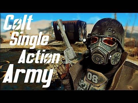 Fallout 4 New Vegas - Colt Single Action Army Showcase - Weapon mod - PC - By ToastyFresh