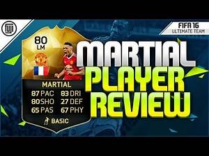 FIFA 16 - SIF MARTIAL PLAYER REVIEW (80) - FIFA 16 Ultimate Team