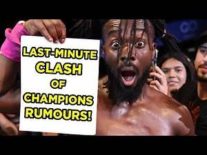 Last-Minute WWE Clash Of Champions 2019 Rumours