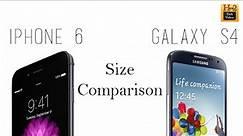 iPhone 6 vs Galaxy S4 (Size Comparison) | H2TechVideos