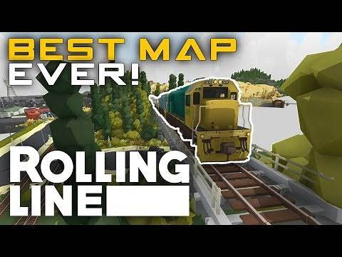 THE ULTIMATE MAP! - Rolling Line - VR Toy Train Simulator - Map Testing
