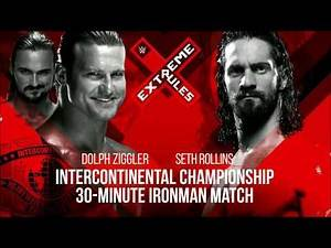 WWE Extreme Rules 2018: Dolph Ziggler vs. Seth Rollins - Official Match Card