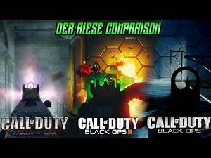 """Black Ops 3 """"THE GIANT"""" Zombies Map vs Black Ops 1 & World At War Der Riese Comparison!"""