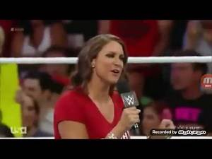 WWE-STEPHANIE and Nikki Bella and Brie Bella Segment