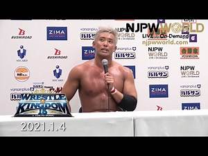 Kazuchika Okada comments after a war with Will Ospreay! WRESTLE KINGDOM 15